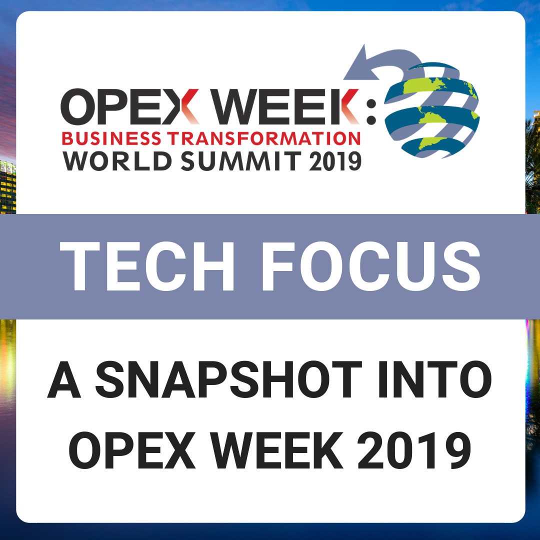 OPEX Week 2019 - Top Sessions with a Technology Focus