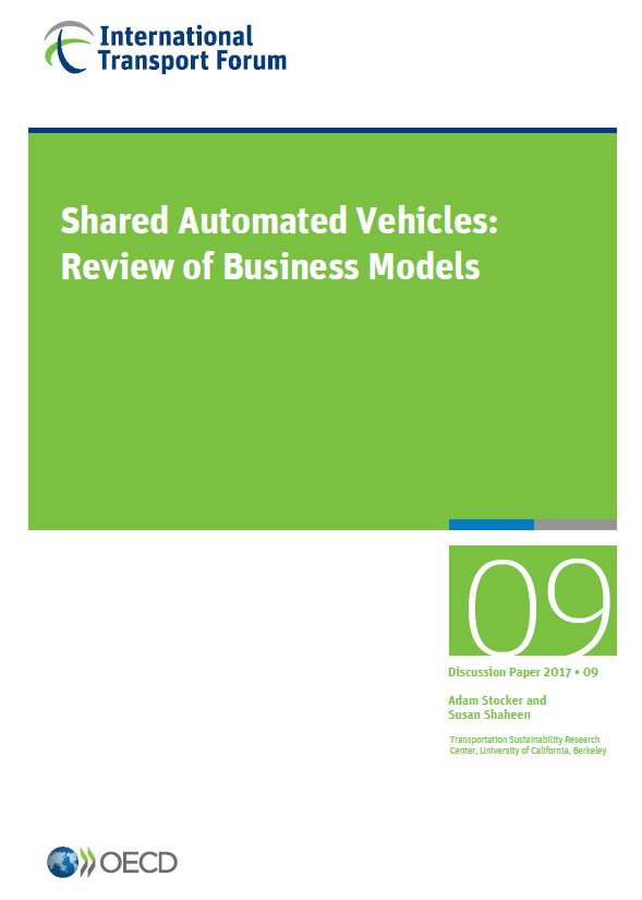 Shared Automated Vehicles: Review of Business Models