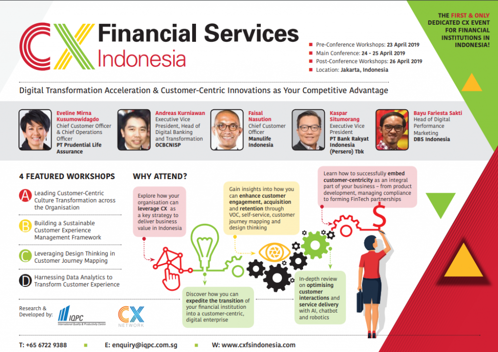 View the Customer Experience for Financial Services Indonesia Agenda