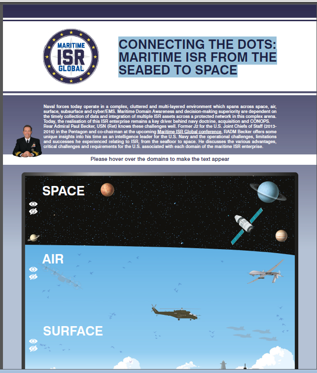 CONNECTING THE DOTS: MARITIME ISR FROM THE SEABED TO SPACE