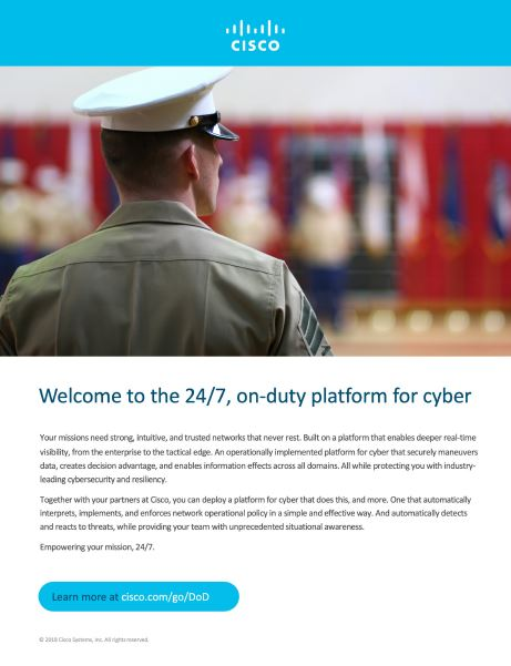 [Cisco] Welcome to the 24/7, on-duty platform for cyber