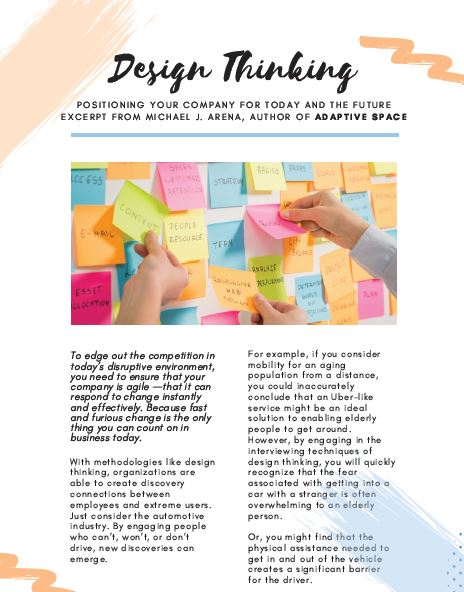 Design Thinking: Positioning Your Company for Today and The Future
