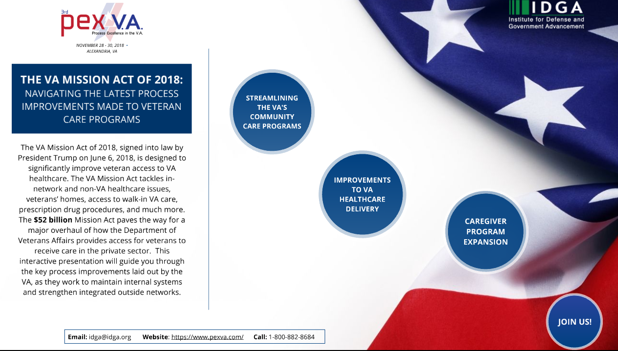 The VA Mission Act of 2018: Navigating the Latest Process Improvements Made to Veteran Care Programs