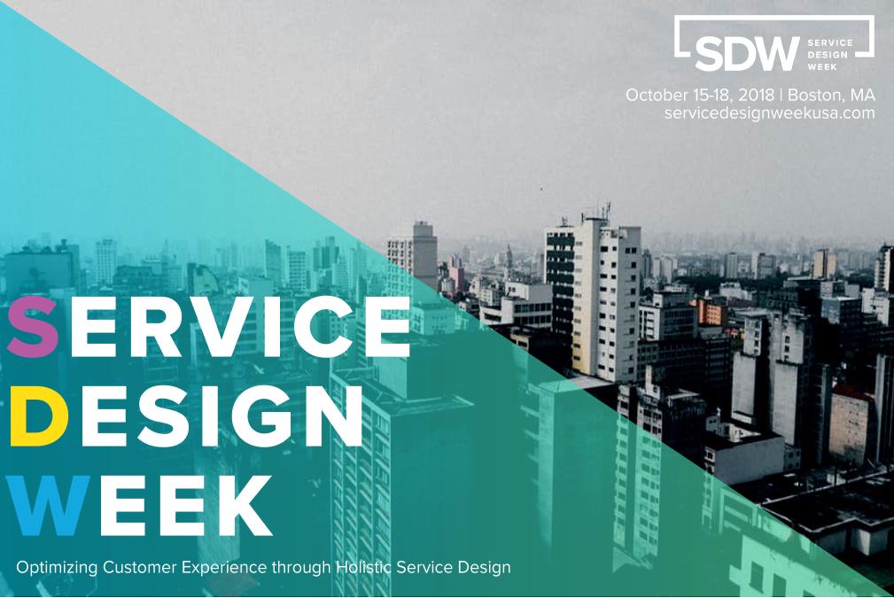 2018 Service Design Week Sponsorship Prospectus