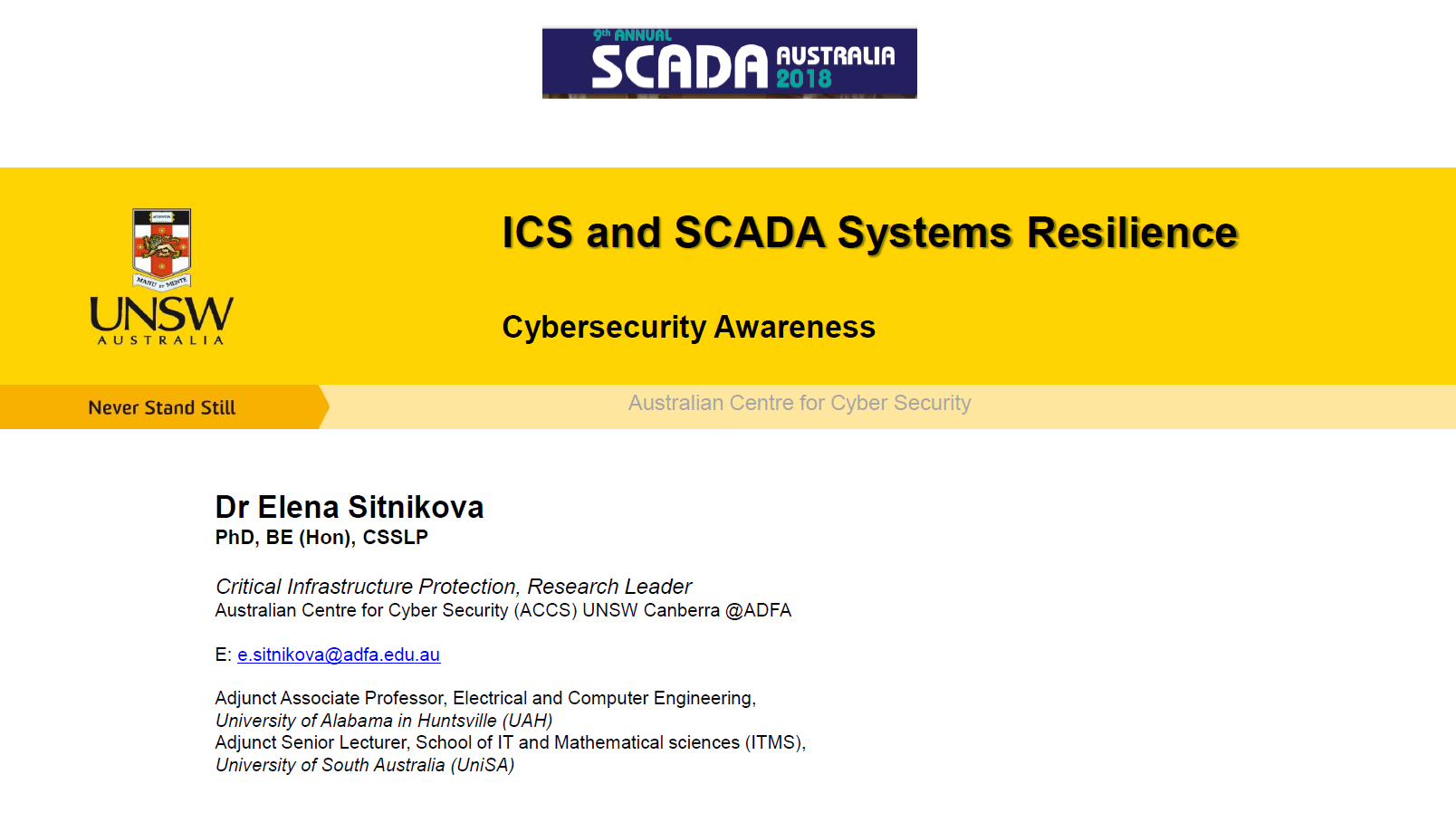 Increasing Security Awareness and Safeguards within ICS and SCADA Systems to Maximise Cyber Resilience