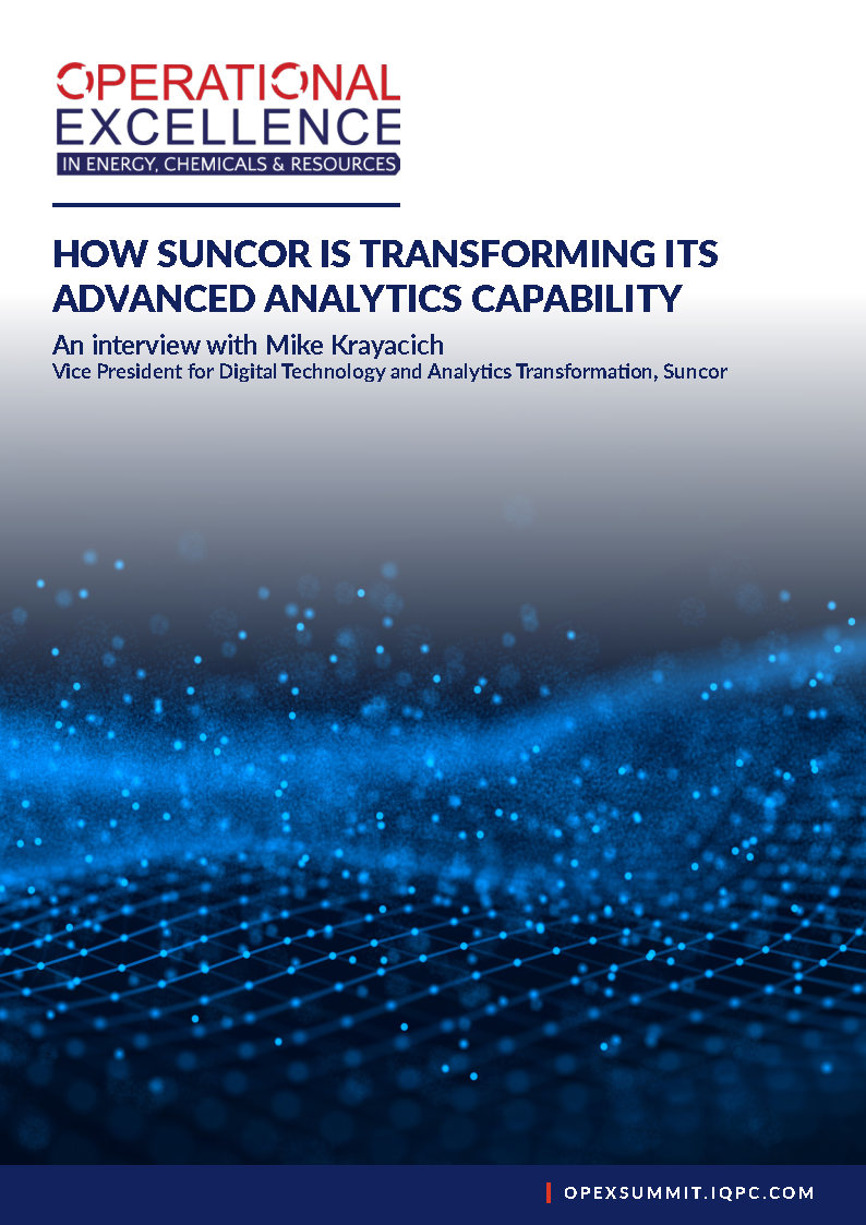 Interview with Mike Krayacich: VP Digital Technology and Analytics Transformation at Suncor - Sponsorship