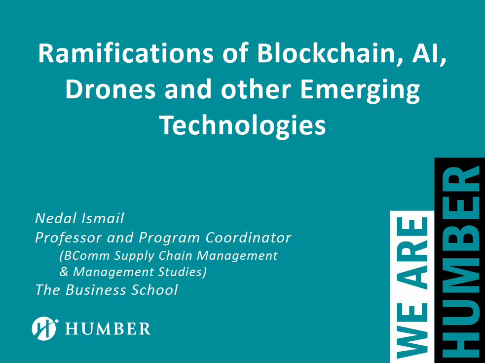 The Ramifications of Blockchain, AI, Drones and other Emerging Technologies