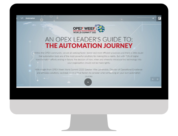 An OPEX Leader's Guide to: The Automation Journey