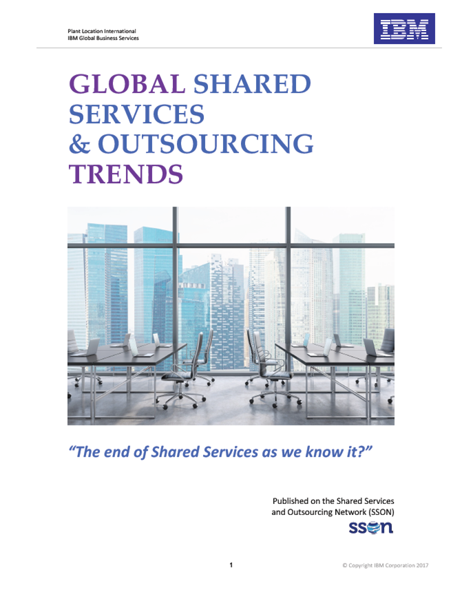 Global Shared Services & Outsourcing Trends 2017: The End of Shared Services As We Know It?