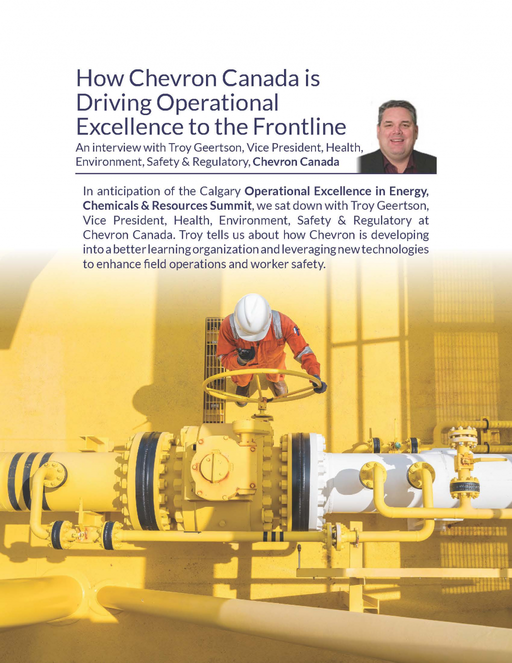 How Chevron Canada is Driving Operational Excellence to the Frontline