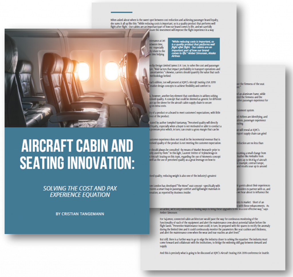 Article on Aircraft Cabin and Seating Innovation