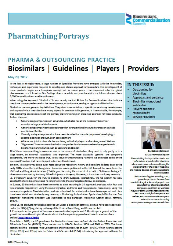 Pharmatching Portrays Biosimilars