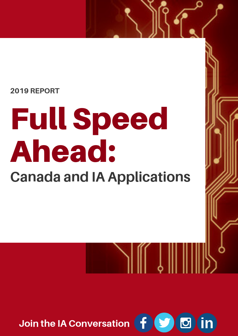 Full Speed Ahead: Canada and IA Applications