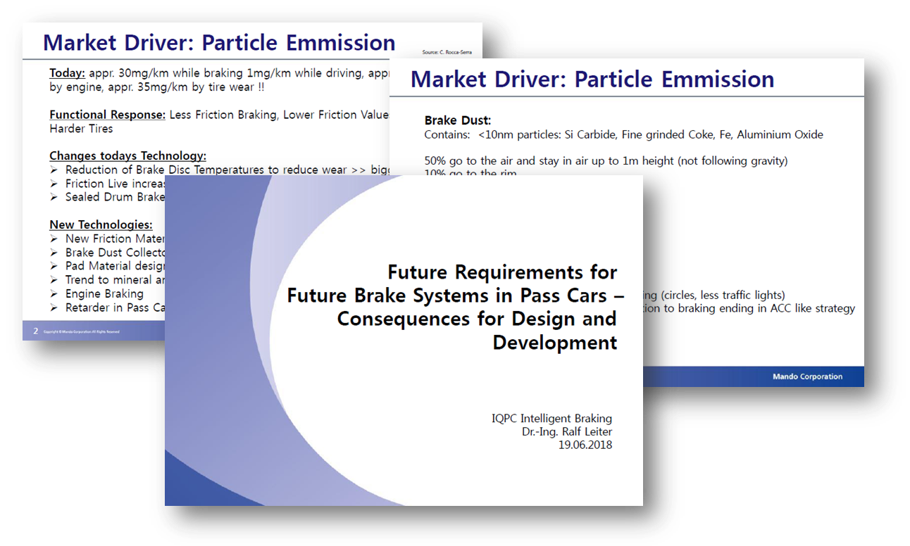 Future Requirements for Future Brake Systems - a presentation by Mando