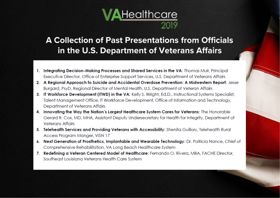 A Collection of Past Presentations from Officials in the U.S. Department of Veterans Affairs
