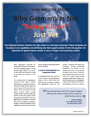 "SSON Industry Report: Why Germany is Not ""Going Global"" Just Yet"