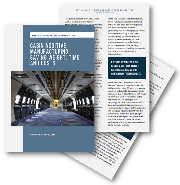 Cabin Additive Manufacturing: Saving weight, time and cost - Transport IQ Article