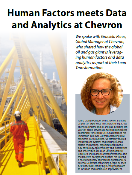 Human Factors meets Data and Analytics at Chevron