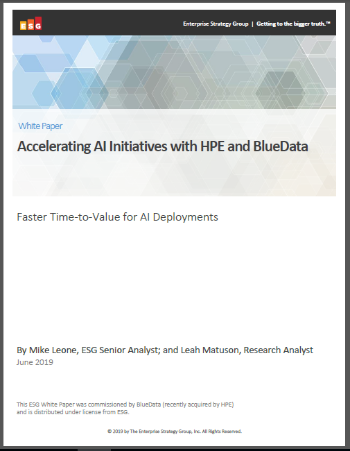 Accelerating AI Initiatives with HPE and BlueData