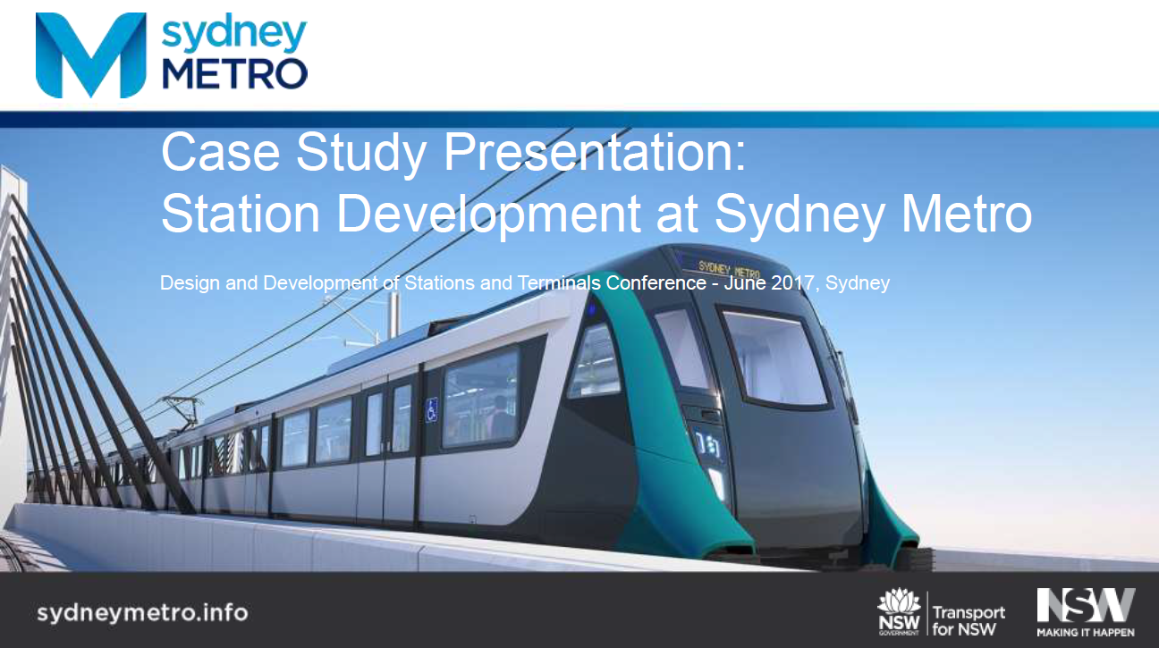 Case Study Presentation: Station Development at Sydney Metro