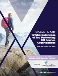 10 Characteristics of Top Performing HR Service Organisations - What sets the top 20% apart?