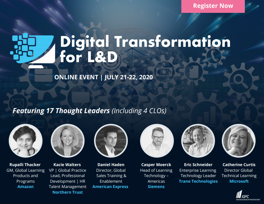 Digital Transformation for L&D Online Agenda
