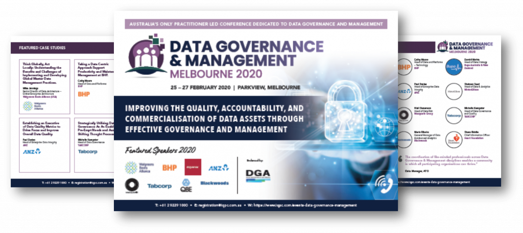 View the Event Guide - Data Governance and Management 2020