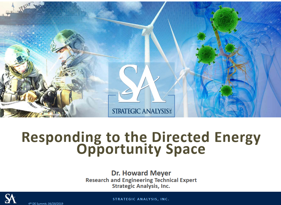 Responding to the Directed Energy Opportunity Space