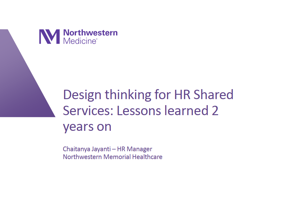 Design Thinking for HR Shared Services: Lessons Learned After Two Years