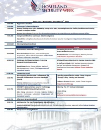Homeland Security Week 2019 Onsite Agenda