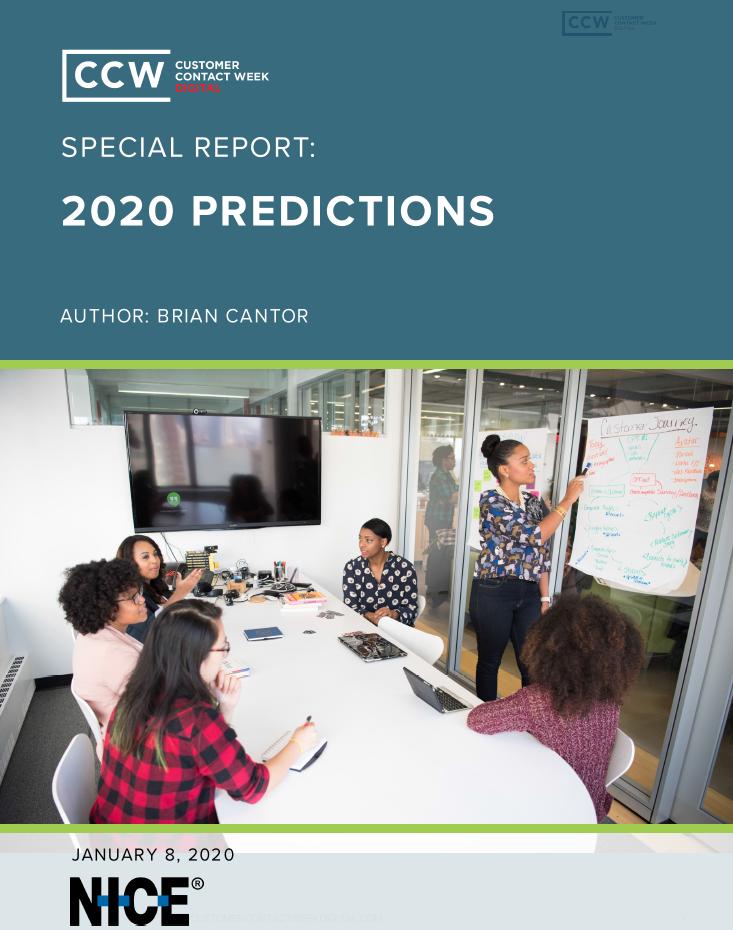 Special Report: 2020 Contact Center Predictions