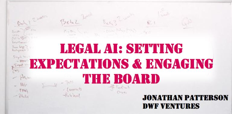Past Presentation: Setting Expectations and Engaging Board by Jonathan Patterson