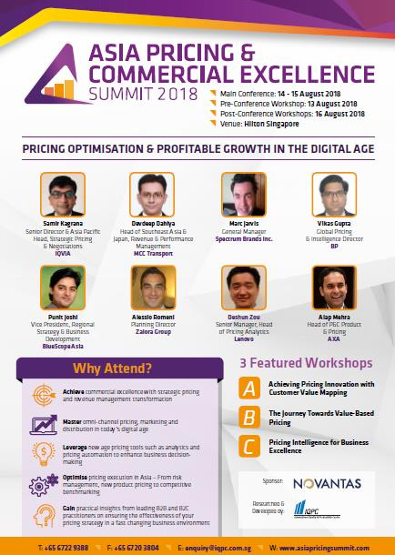 4th Annual Asia Pricing & Commercial Excellence Summit Agenda