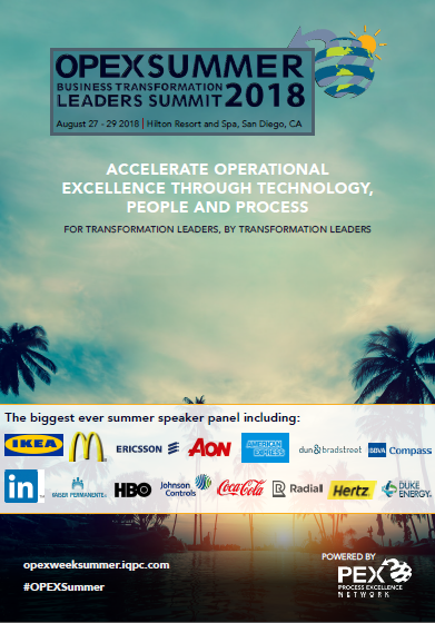OPEX Summer Business Transformation Leaders Summit Show Report 2018