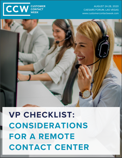 VP Checklist: Considerations for a Remote Contact Center
