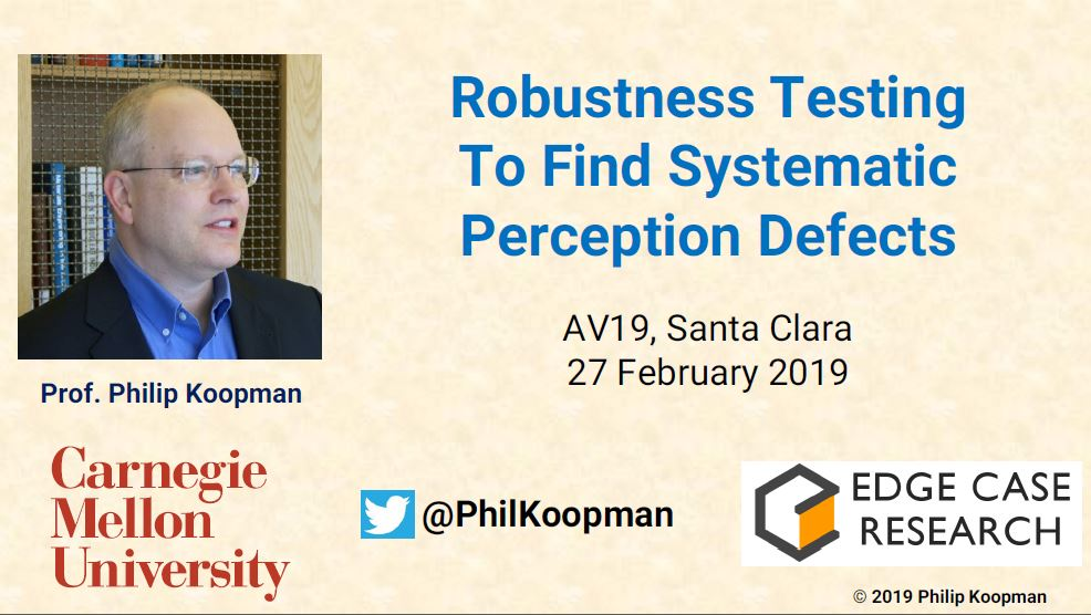 Robustness Testing to Find Systematic Perception Defects