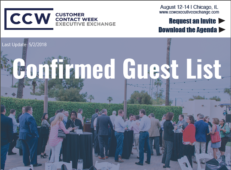 CCW Executive Exchange Confirmed Guest List