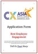 CX Awards Application Form 2020 - Best Employee Engagement