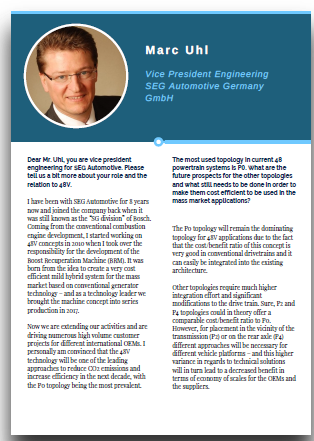 Interview with VP Engineering at SEG Automotive Germany