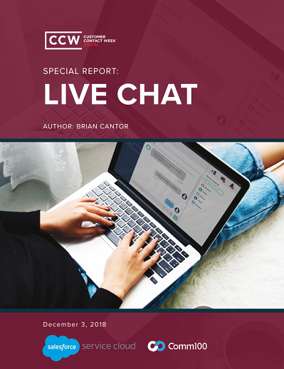 CCW Digital Special Report - Live Chat