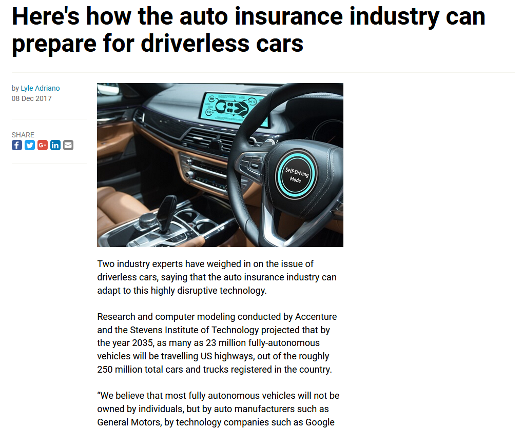 Here's How the Auto Insurance Industry Can Prepare for Driverless Cars