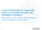From Frenemies to Fraternity: How to Convert Faculty into Strategic Partners