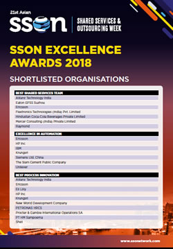 Shortlisted Organisations for the 2018 Asian SSON Excellence Awards