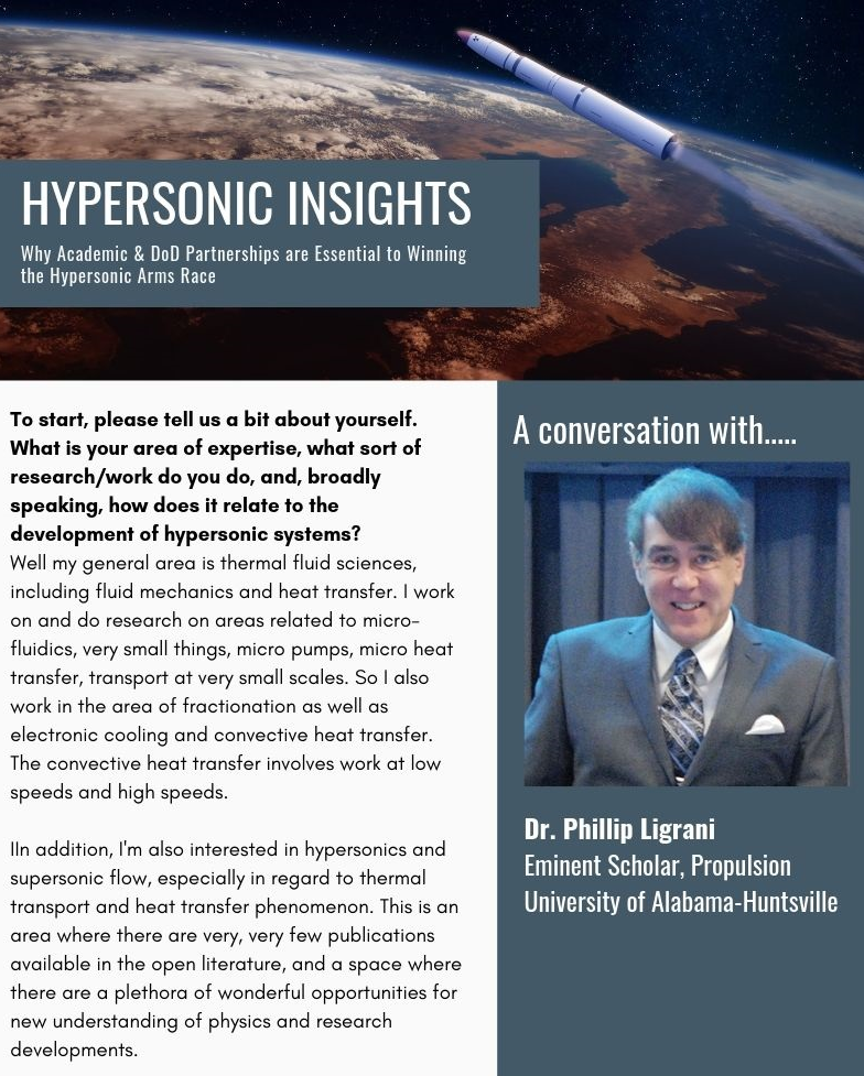 Why Academic & DoD Partnerships are Essential to Winning the Hypersonic Arms Race