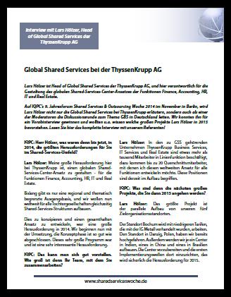 Interview: Global Shared Services bei der ThyssenKrupp AG