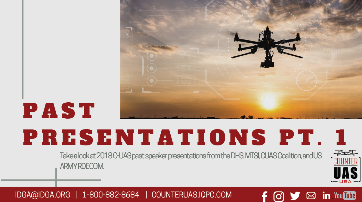 Counter UAS Past Presentation Packet: Part 1