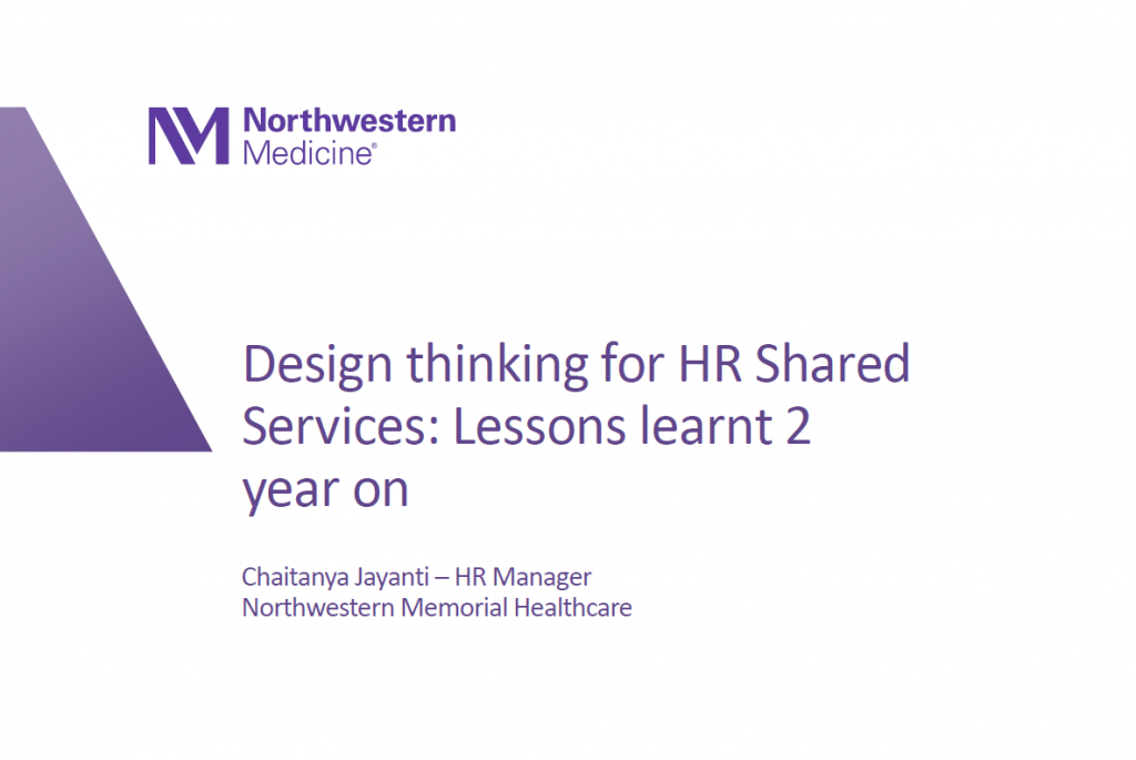 Design Thinking for HR Shared Services: Lessons Learned Two Years Later