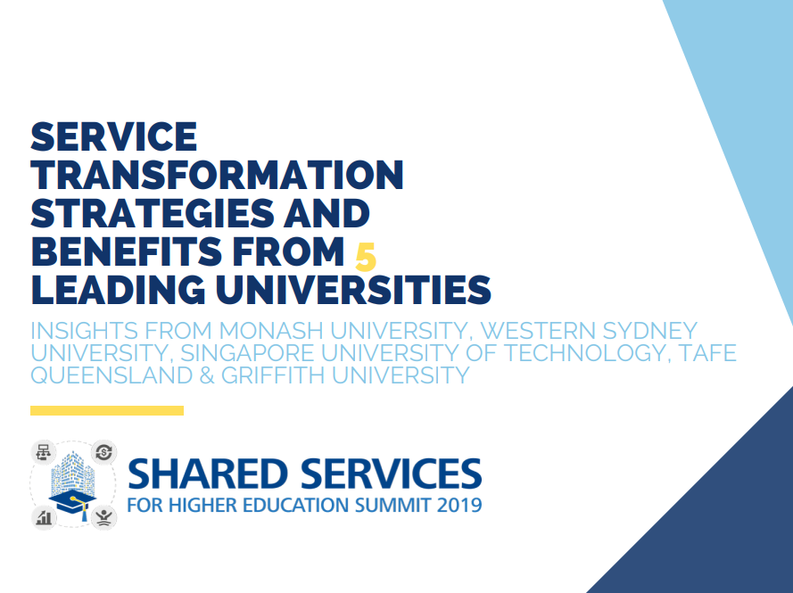 Service Transformation Strategies and Benefits from 5 Leading Universities