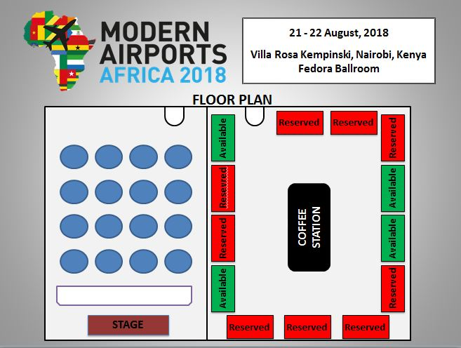 Modern Airports Africa Conference Venue Floorplan