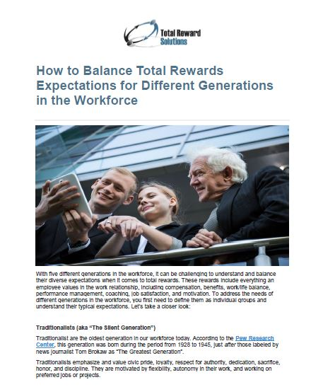 How to Balance Total Rewards Expectations for Different Generations